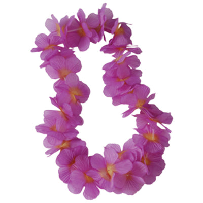 Two Tone Large Petal Leis, Purple (one dozen) - Party Themes