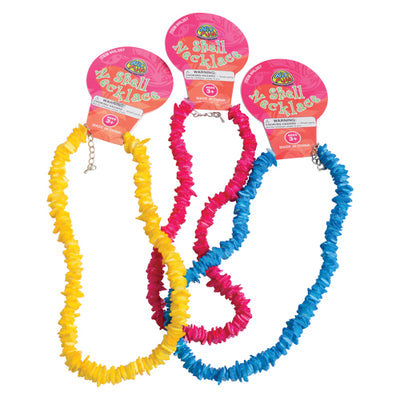 colored shell necklaces  - Carnival Supplies