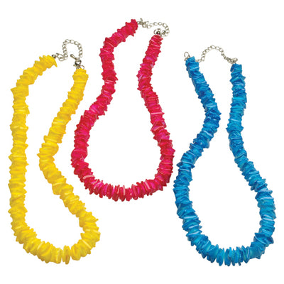 Colored Shell Necklaces (One Dozen) - Party Themes