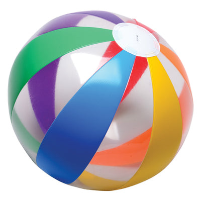 Clear Rainbow Ball Inflates (1 dozen) - Toys