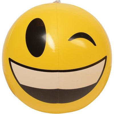 emoticon inflatable balls 12 inch 1 dozen  - Carnival Supplies