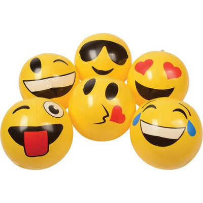Emoticon Inflatable Balls 12 inch (1 Dozen) - Party Themes