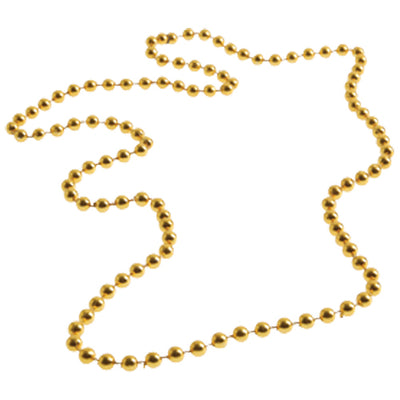 School Spirit Bead Necklace - (Gold) (One Dozen) - Sports