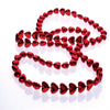 Metallic Heart Bead Necklaces (1 Dozen) - Costumes and Accessories