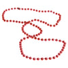 Metallic Bead Necklaces - Red (One dozen) - Sports