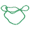 Metallic Bead Necklaces (Green) (One Dozen) - Costumes and Accessories