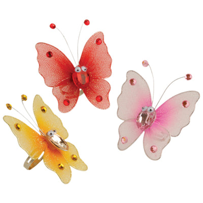 Organza Butterfly Ring - Costumes and Accessories
