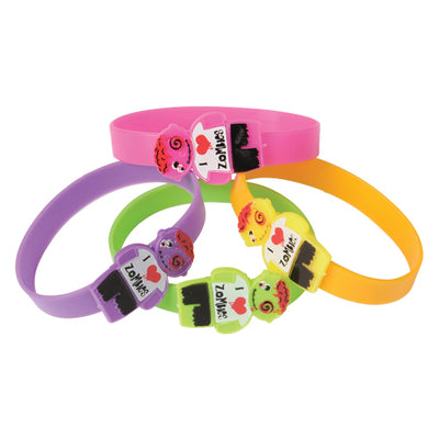 zombie silicone bracelets  - Carnival Supplies