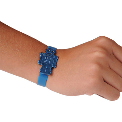 Robot Silicone Bracelets (one dozen) - Costumes and Accessories