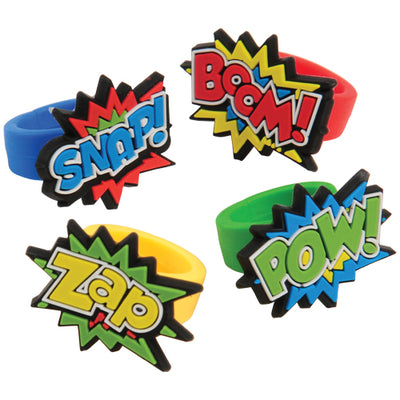 Superhero Rubber Rings (1 dozen) - Party Themes