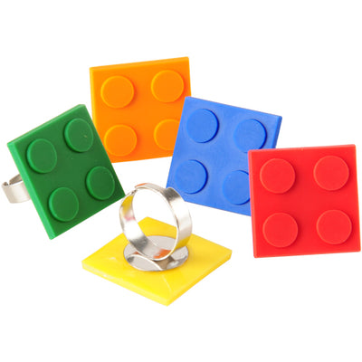 Block Mania Rings (pack of 12) - Party Themes