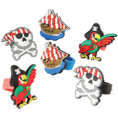 Pirate Rubber Rings (pack of 12) - Party Themes