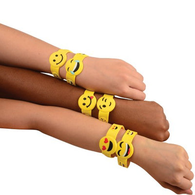 emoji bracelets set of 6  - Carnival Supplies