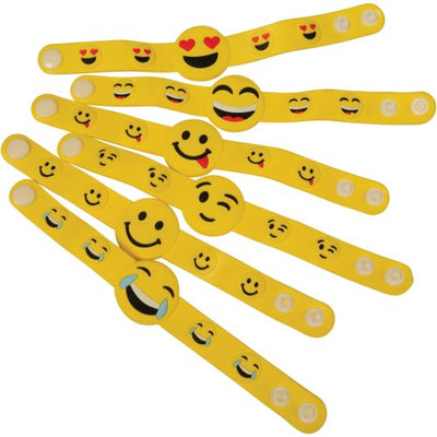 Emoji Bracelets (set of 6) - Party Themes