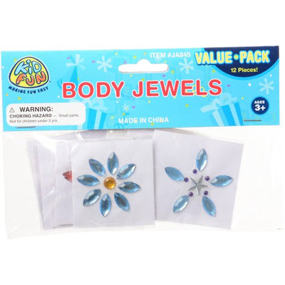 Body Jewels (pack of 12) - Costumes and Accessories