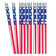 4th Of July Patriotic Pencils (One Dozen)