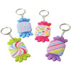 Candy Rubber Keychains (pack of 12) - Novelties