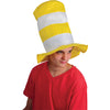 Yellow and White Striped Stove Pipe Top Hat - Costumes and Accessories