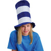 School Spirit Felt Stove Top Hats (Blue - White) - Sports