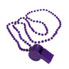 School Spirit Whistle Necklaces - Purple (One Dozen) - Sports