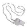 School Spirit Whistle Necklaces - White (One Dozen) - Sports