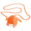 Football Helmet Necklaces - Orange (One Dozen) - Sports