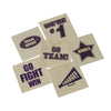 School Spirit Tattoos - Purple (144 pieces) - Sports