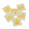 School Spirit Tattoos - Yellow (144 pieces) - Sports
