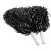 Metallic Pom Poms, Black (one dozen) - Sports