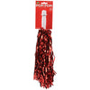Metallic Pom Poms, Red (one dozen) - Sports