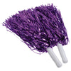 Metallic Pom Poms, Purple (one dozen) - Sports