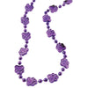 Metallic Paw Print Beads Purple (1 Dozen) by US Toy