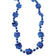 Metallic Paw Print Beads, Blue (one dozen)