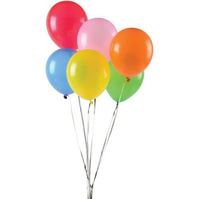 asst balloons 7 inch pack of 144 cs lt122  - Carnival Supplies