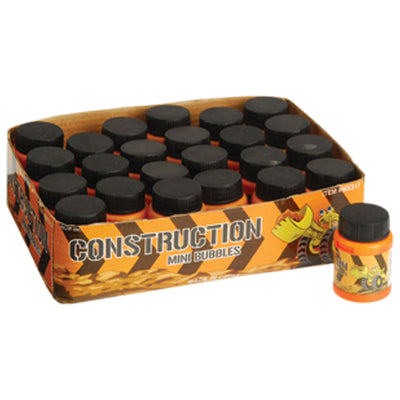 Construction Mini Bubbles, 24 per Box - Party Supplies