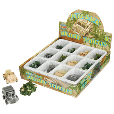Pull Back Army Vehicles (1 Dozen) by US Toy