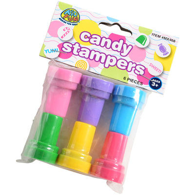 candy stampers 6 pieces  - Carnival Supplies