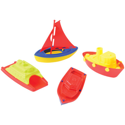 Plastic Sailing Boats (pack of 4) - Toys