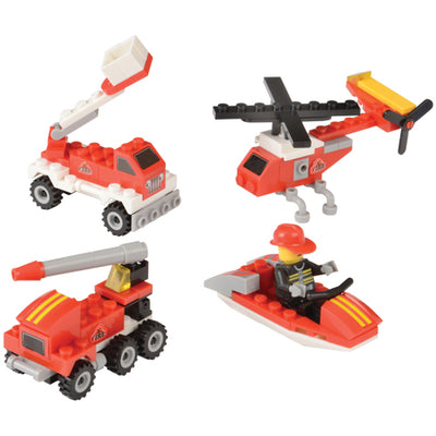 Fire Rescue Bricks, 25 To 32-Pcs (1 Dozen) - Party Themes