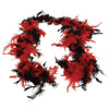 Feather Boa - Red-Black - Costumes and Accessories