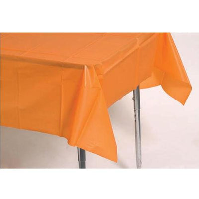 Party Supplies - Plastic Tablecover (Orange)