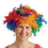 Rainbow Feather Wig - Party Themes