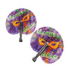 Mardi Gras Folding Fans (One Dozen) - Holidays