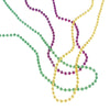 Mardi Gras Metallic Bead Necklaces (144 pieces) - Holidays