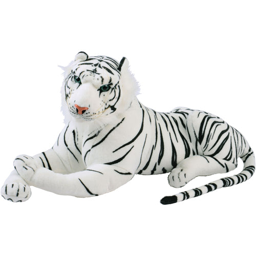 Plush Toy Jumbo Realistic White Tiger Save At Carnivalsource Com