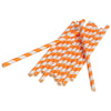 Paper Straws, Orange (one dozen) - Party Supplies
