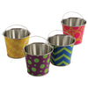 Neon Pattern Buckets (One Dozen) - Party Supplies