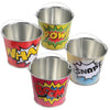 Superhero Mini Buckets (1 dozen) - Party Themes