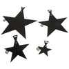 5 Inch Foil Star - Black (One Box) - Party Supplies