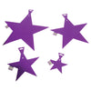 5 Inch Foil Star - Purple (One Box) - Party Supplies